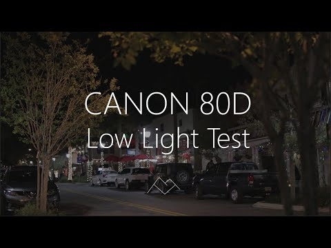 LOW LIGHT video test CANON 80D Cinestyle