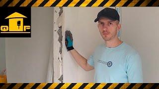 видео Порядок ремонта поврежденной штукатурки