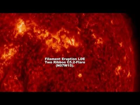 SOLAR ACTIVITY UPDATE: Filament Eruption/Earth Directed CME: April 19th, 2015.