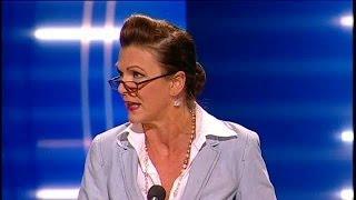 Katrin Sundberg om Greklandssituationen - Parlamentet (TV4)