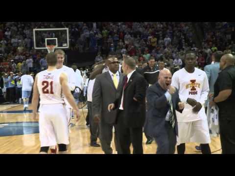 Iowa State Post-Game Locker Room Celebration vs. North Carolina (NCAA Third Round)