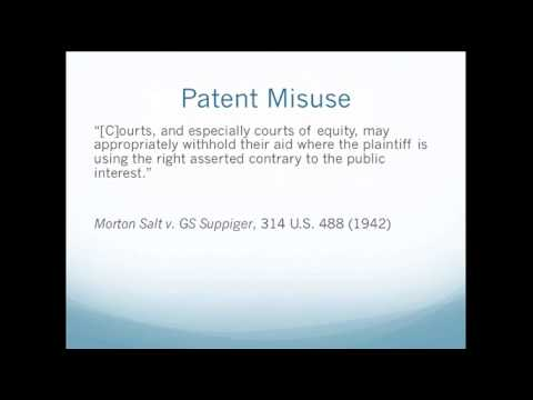 Lecture 20 - Patents and Antitrust 1