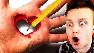 Как Нарисовать 3D Рисунок на Бумаге? / РЕАКЦИЯ на БЕЗУМНЫЕ РИСУНКИ на БУМАГЕ! смотреть онлайн в хорошем качестве бесплатно - VIDEOOO