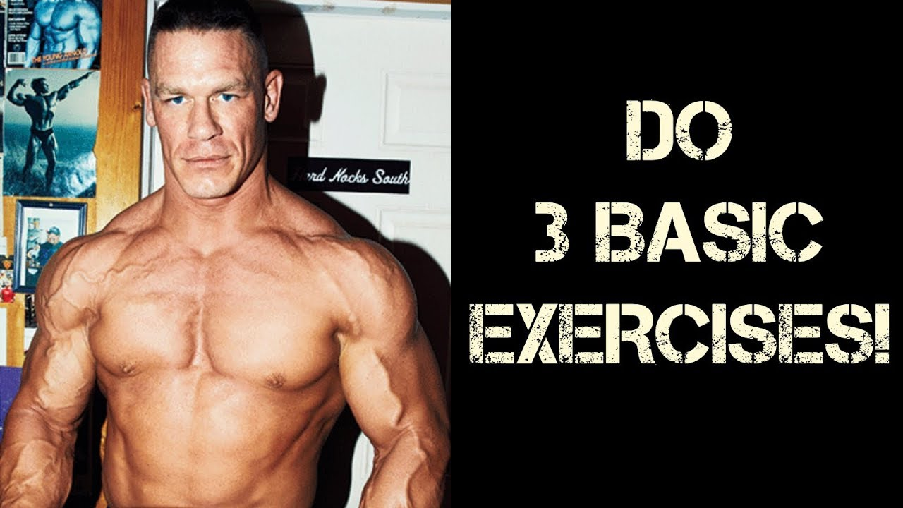JOHN CENA - Do 3 Basic Exercises For Mass!