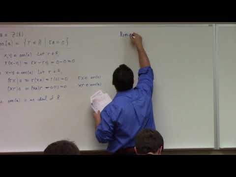Abstract Algebra: prime and maximal ideals, simple rings, 11-6-17