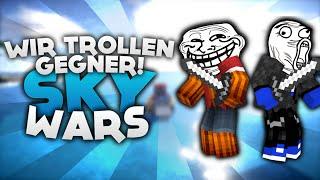 WIR TROLLEN GEGNER! - Minecraft Sky Wars! | DieBuddiesZocken