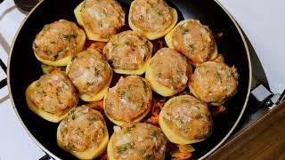картошка лук и фарш Фаршированая картошка рецепт моей бабушки блюдо из СССР