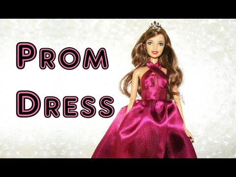 How to make Prom Dress for Dolls Tutorial DIY - YouTube