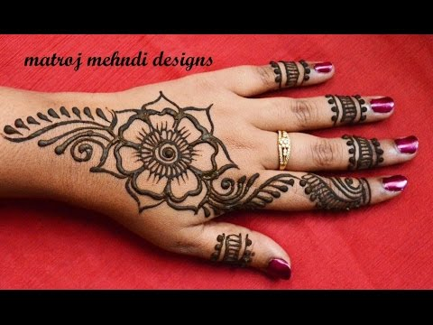 Very Easy Simple Mehndi Designs For Hands Matroj Mehndi Designs