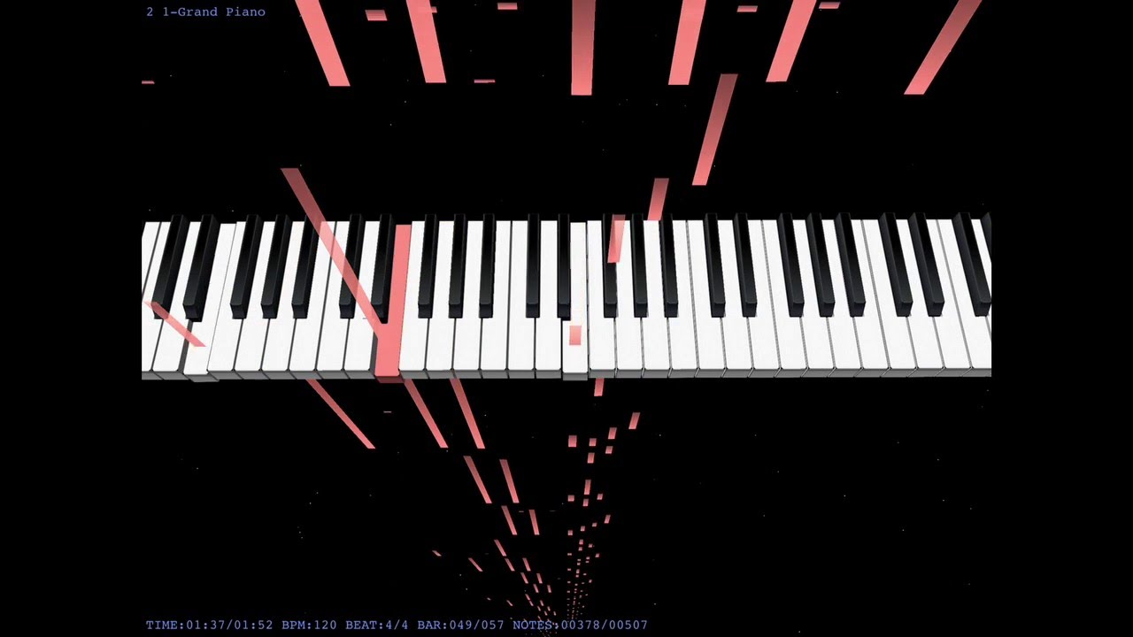 Kissy Face Blob OST Piano Visualizer/Tutorial