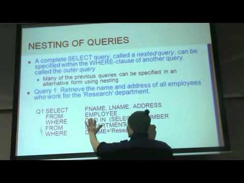 CH(4&5) Part(2) The SQL DB Language