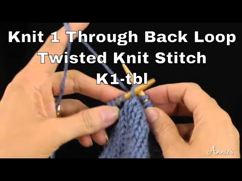 Knit 1 Through The Back Loop Or Twisted Knit Stitch K1 Tbl Tk