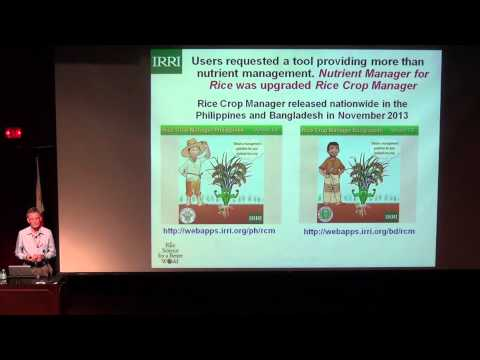 1. Seminar by Roland Buresh: The Rice Crop Manager: an ICT-based, agro-advisory service, Pt. 1