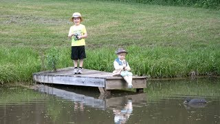 A BOY'S FIRST TIME FISHING