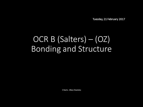OCR B SALTERS (OZ) Bonding and Structure REVISION