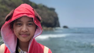 ( TRAVEL ) FAMILY BEACH PANTAI SIUNG LOBSTER KEPITING RAJUNGAN RAKSASA SLUG WITH GIRL SIPUT LAUT