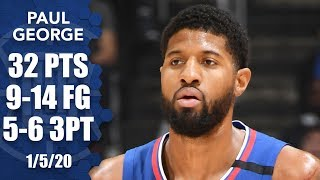 Paul George scores 32 points in 26 minutes in Knicks vs. Clippers   2019-20 NBA Highlights