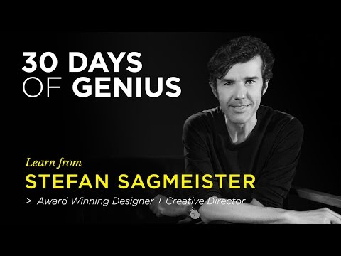 Stefan Sagmeister on CreativeLive | Chase Jarvis LIVE | ChaseJarvis