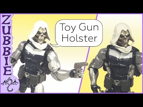 How to Make a Toy Gun Shoulder Holster for Action Figures, DIY for Marvel Legends