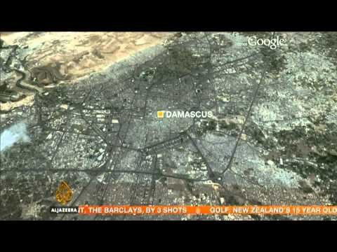 Military copter crashes in Syrian capital