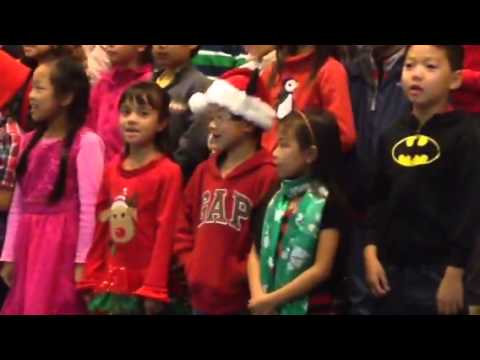 Asia singing her snowman and Mamacita Christmas Song - YouTube
