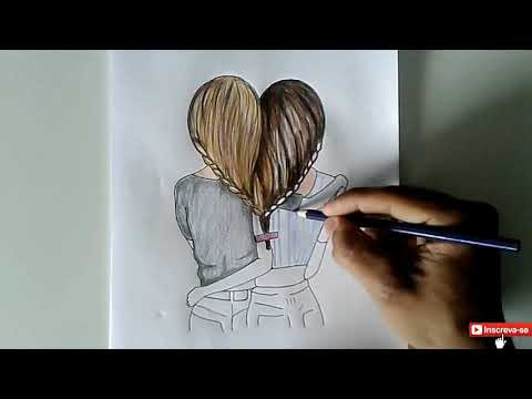 Melhores Amigas Tumblr Cabelo Em Forma De Coração Desenho