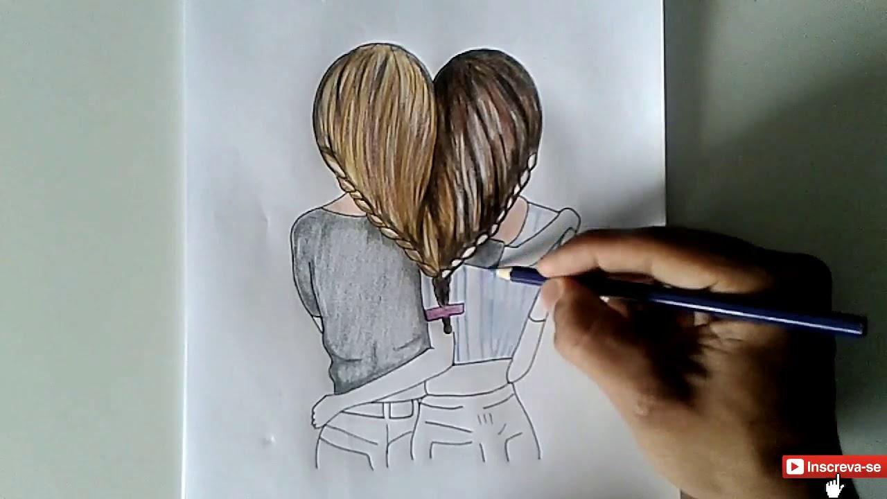 Melhores Amigas Tumblr Cabelo Em Forma De Coração Desenho Tumblr