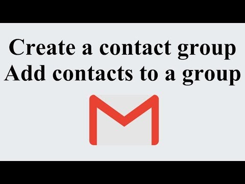 How to create Gmail Contact Group & Add contacts to a group