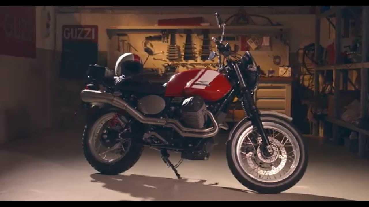 Moto guzzi garage scrambler style youtube for Garage preparation moto