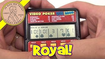 Video Poker Royal Flush 2000 Electronic Handheld Game, Radica Toys
