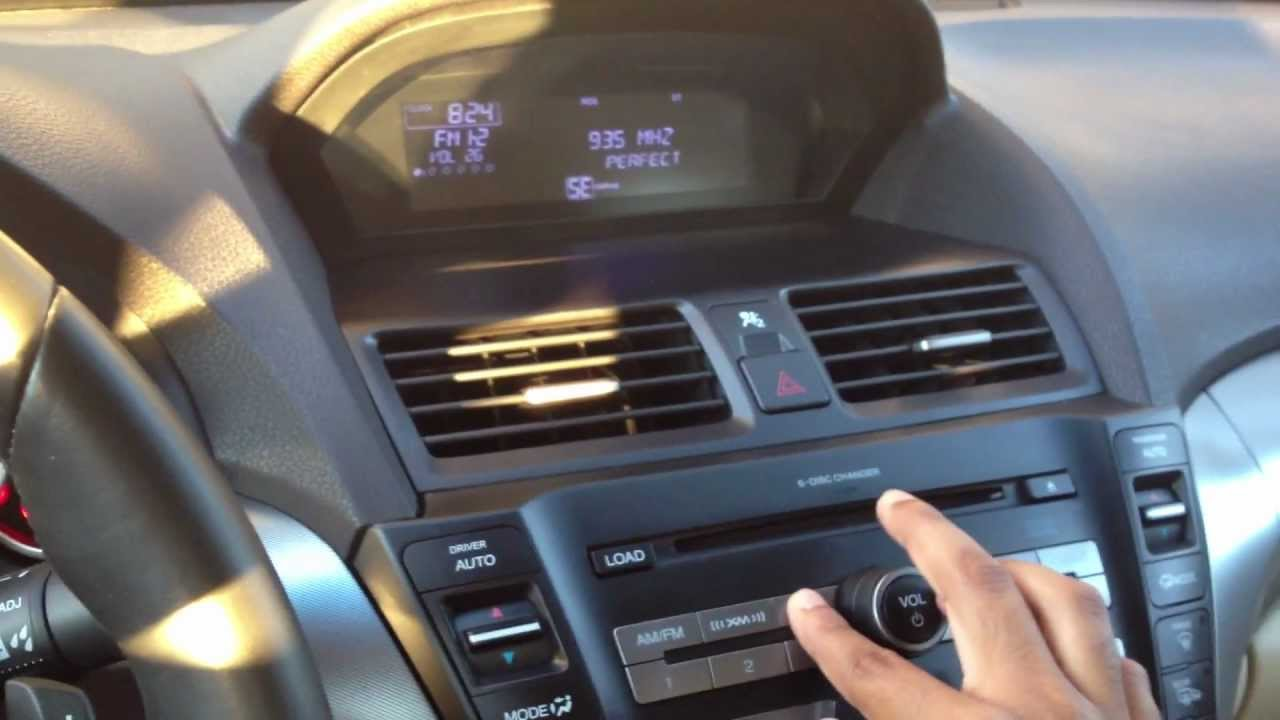 2009 Acura Tl Stock Sound System Youtube