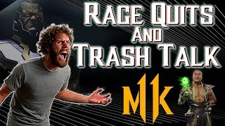 CRAZY TRASH TALKERS GET MOPPED! | Rage Quit And Trash Talk Compilation: Mortal Kombat 11 Injustice 2