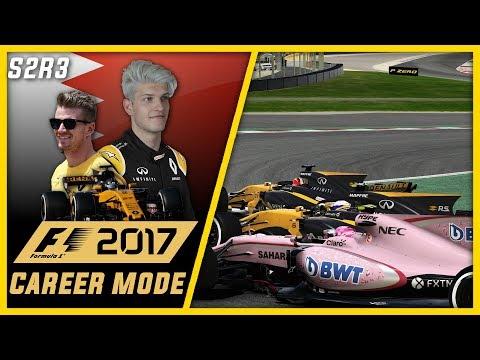 INCREDIBLE 13 LAP 3 WAY BATTLE!!! F1 2017 CAREER MODE PART 23 l BAHRAIN!!!
