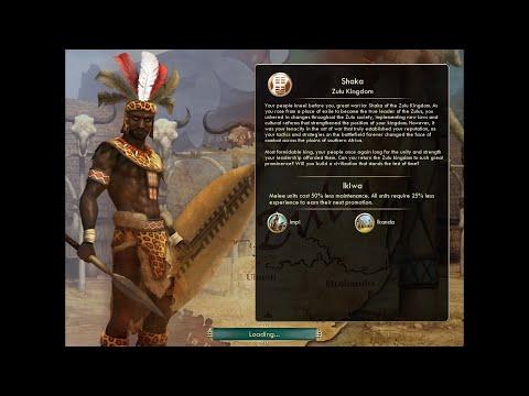 Let's Play Civilization V (The Zulus) - Part 1: Enter a Brave New World |