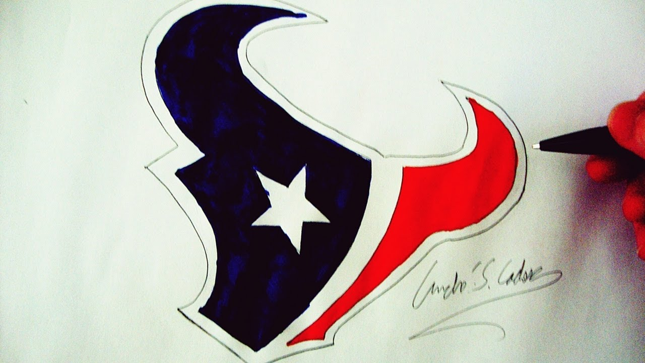 Como desenhar a logo do houston texans how to draw houston texans logo nfl logos 5 youtube