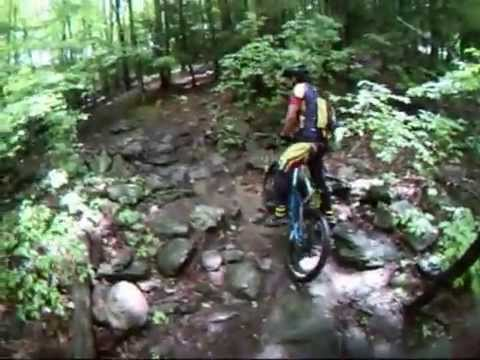 Wet Mountain Bike Ride at Indian Ledge - Trumbull, CT