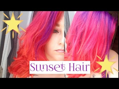 SUNSET Hair Color with ARCTIC FOX | Giveaway (Open)