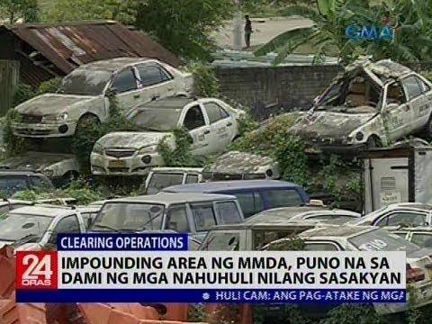 Impounding area ng MMDA, puno na sa dami ng mga nahuhuli nilang sasakyan