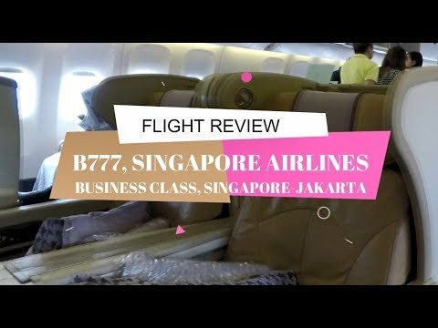 SINGAPORE AIRLINES BUSINESS CLASS | SINGAPORE - JAKARTA | BOEING 777-300 | CLASSIC LOBSTER THERMIDOR
