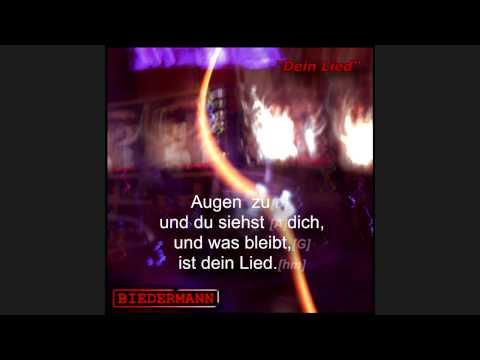 Biedermann - Dein Lied mit Liedtext und Akkorde