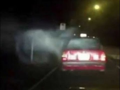 Ghostly Apparition Filmed Attacking A Taxi . Hong Kong, China.