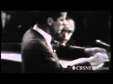 CBS News archives: JFK proposes man to moon