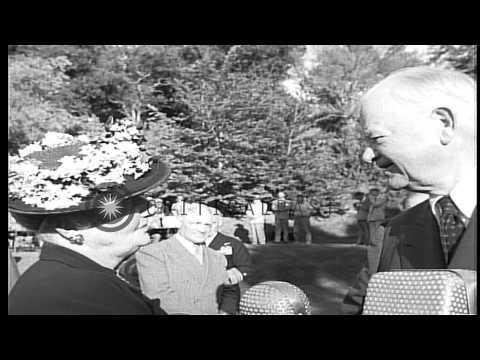 US President Herbert Clark Hoover meets dignitaries in Washington DC. HD Stock Footage