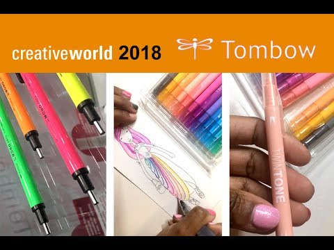Twin Tone Markers - Tombow Creative World 2018 Frankfurt