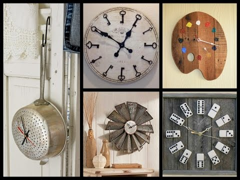 Creative Wall Clock Ideas - Recycled Home Decor