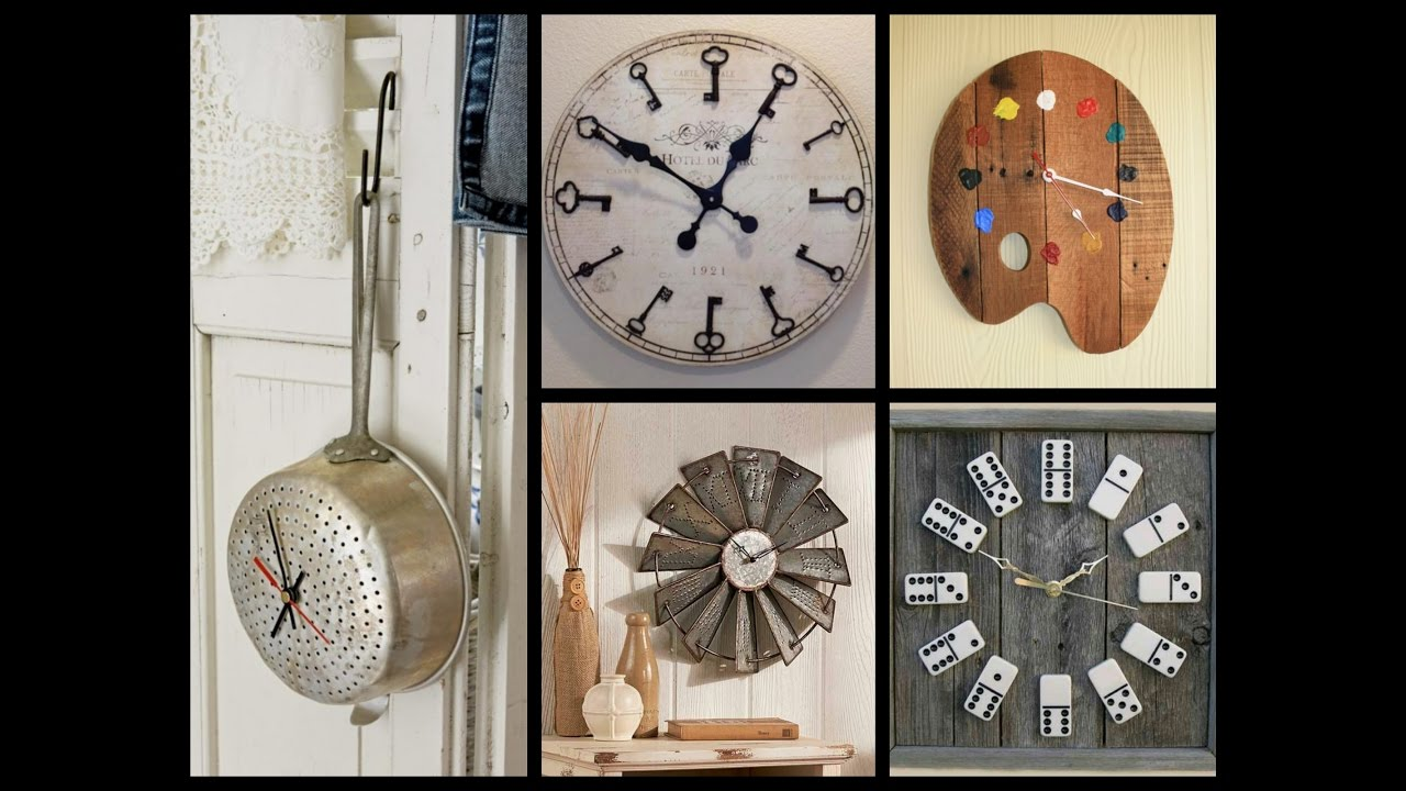 Creative Wall Clock Ideas Recycled Home Decor Youtube