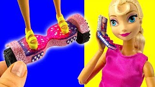 9 DIY Barbie and Elsa Hacks & Crafts ~ Hoverboard, Shoes, Backpack, Phone etc