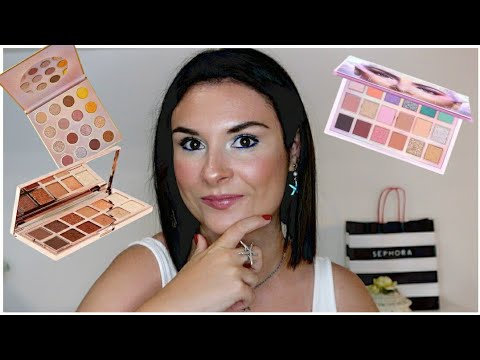 The eyeshadows palette