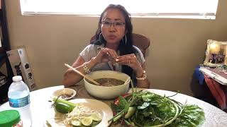 Mukbang homemade pho/Naly's kitchen.