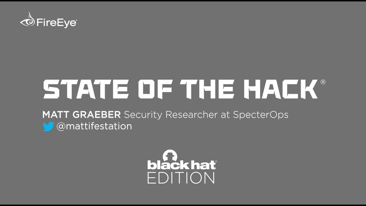 State of the Hack Special Black Hat Edition featuring Matt Graeber